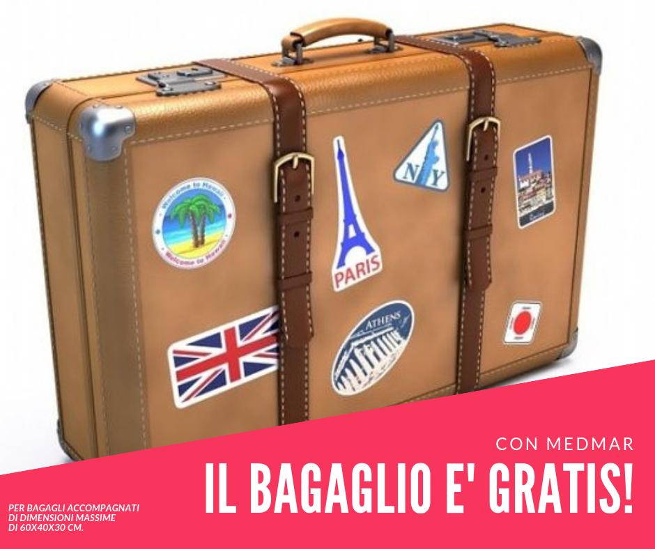 ANCHE QUEST'ANNO BAGAGLIO GRATIS !